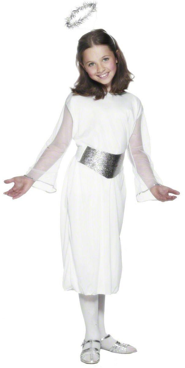 e3cc280dce500 Déguisement ange fille Noël   Ce déguisement d ange de noël pour fille se  compose