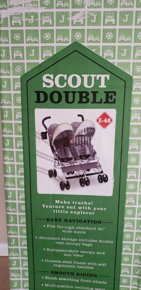 Delta Children J Is For Jeep Brand Scout Double Stroller Spot On