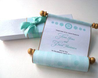 Conjunto de invitación de boda de fantasía, cuento de hadas princesa real invitación, invitación de script, conjunto aguamarina y oro, de 25