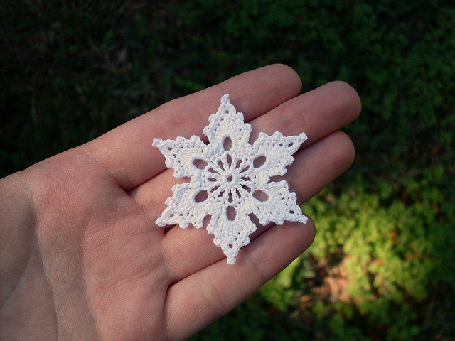 Crochet Snowflakes:http://www.ravelry.com/patterns/library/bells-flakes-and-tree-skirt-edging-snowflake-c