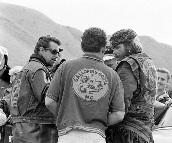 """""""Old School Bikers"""" .... The """"Galloping Goose"""" MC was founded in 1942, making it one of the oldest outlaw biker clubs of the world...."""
