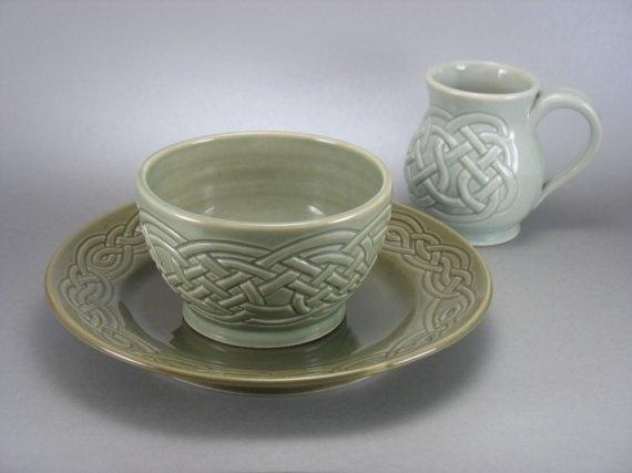 Assorted Celadon Celtic Knotwork Dinner Set & 74 best Dishes Tea Pots Glassware etc. images on Pinterest   Tea ...