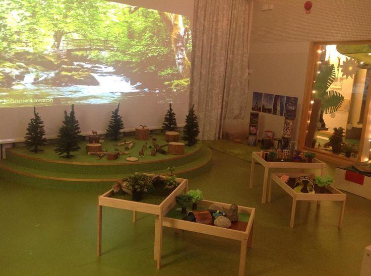 Och en närmare titt på byggplatån #byggochkonstruktion #skogsmiljö #platåer #förskola #pedagogik