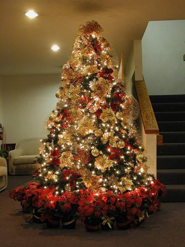 17 Best Christmas Tree Decorations Gold Images On Pinterest