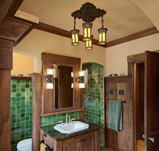 Craftsman Style Lighting For Small Bathroom