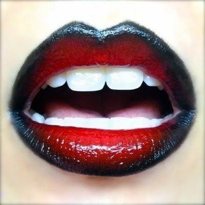 Red & Black Gradient Lips  •  Free tutorial with pictures on how to create a lip painting in under 20 minutes #howto #tutorial