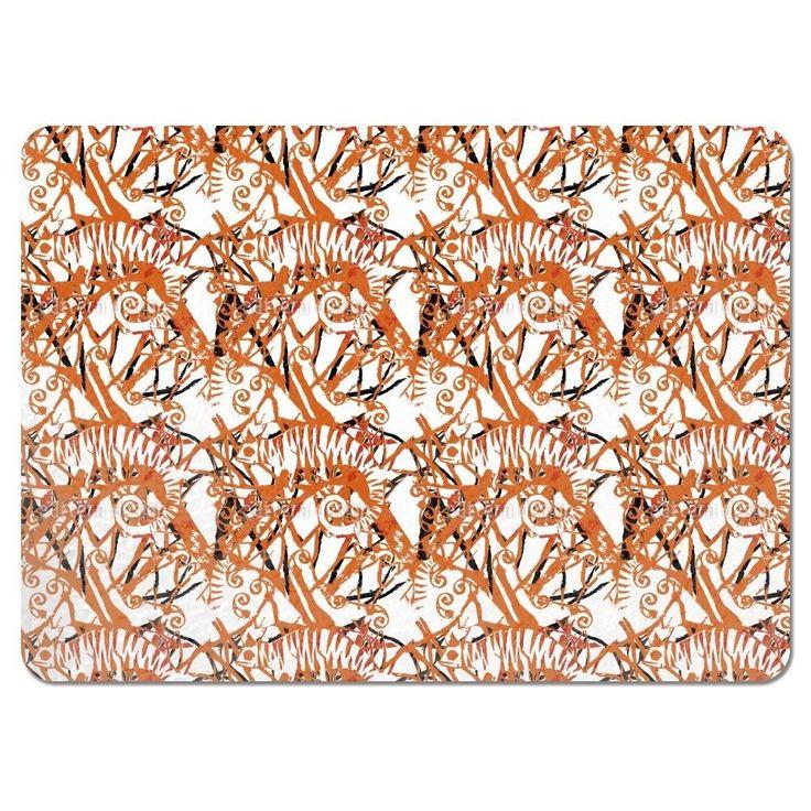 Uneekee Chameleon Orange Placemats (Set of 4) (Chameleon Orange Placemat)