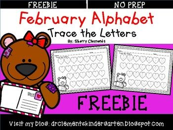 FREEBIE~February Alphabet (Trace the Letters)This two page FREEBIE requires students to trace the uppercase and lowercase letters of the alphabet. This makes a great literacy center, morning work, or homework activity. It is also great for intervention time with students needing extra support and review.