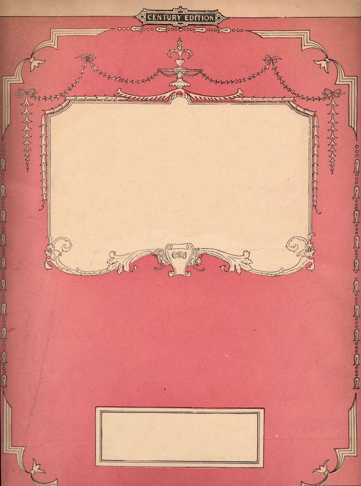 Book Cover Art Template : Pink book cover with ornate details love the idea of a