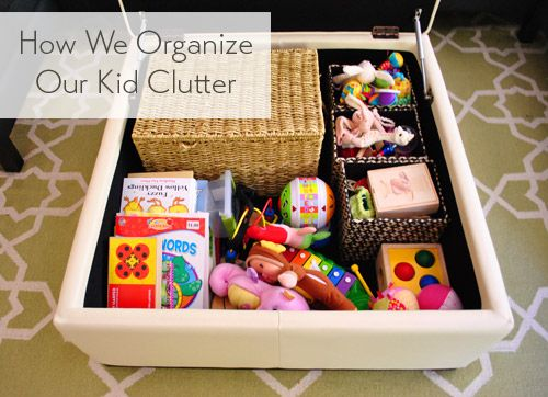 Control the chaos. Kid clutter & how to store it.