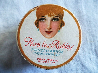 "1920s RARE Antique Face Powder Floralia ""Lady"" Art Deco SEALED Powder Box | eBay"