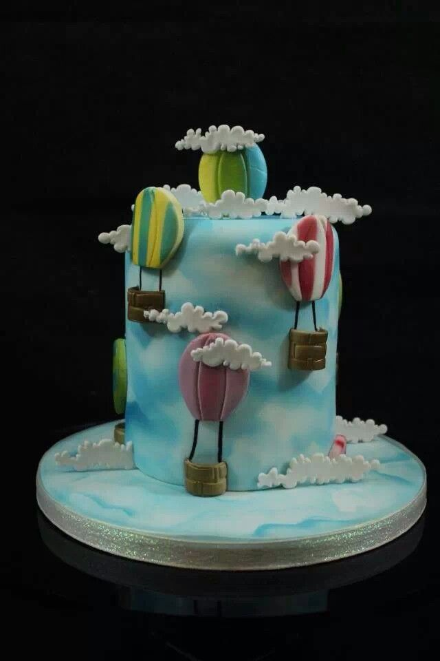Cake Decorating Hot Air Balloon : 58 best images about Hot Air Balloon Cakes on Pinterest ...