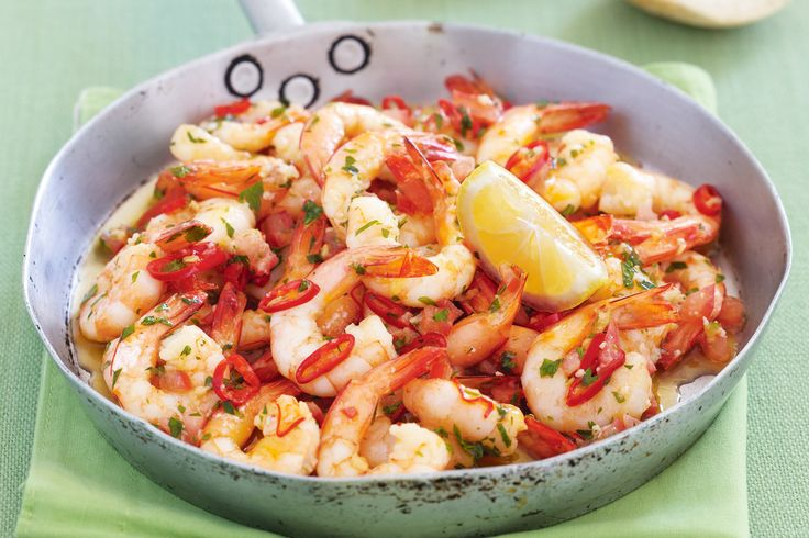 Spicy chillies and garlic, bring out the best in this succulent and aromatic prawn dish.