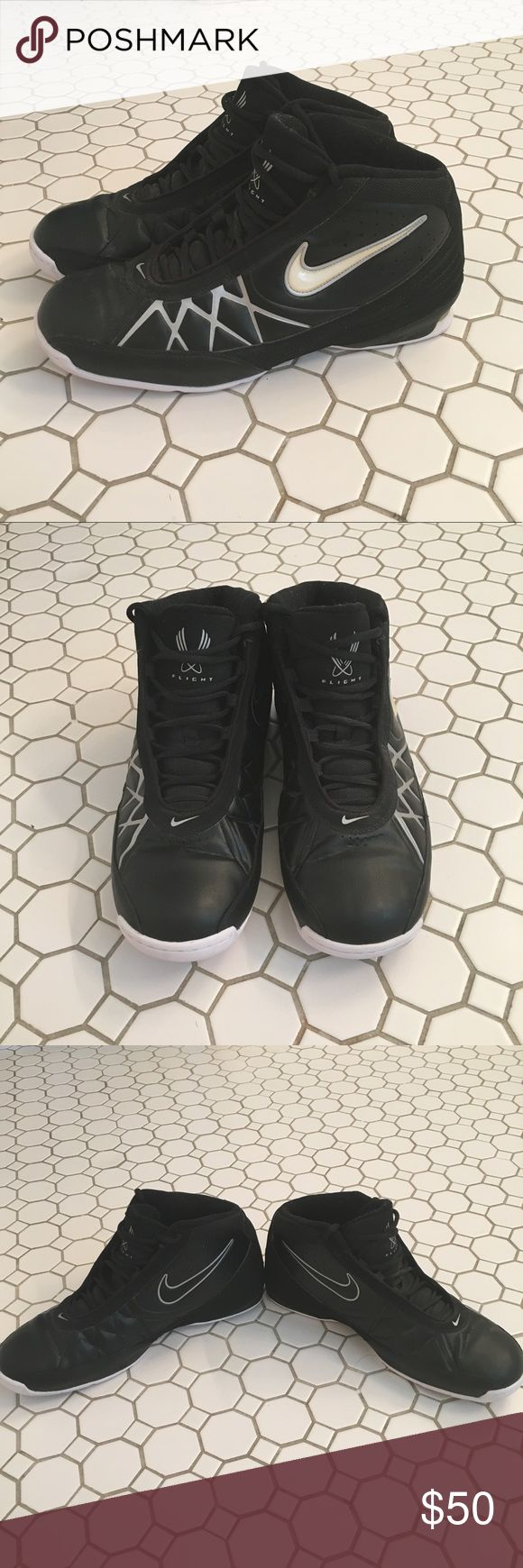 Nike Air Flight Black and white Nike Air Flight high tops in size 13 Nike Shoes Athletic Shoes
