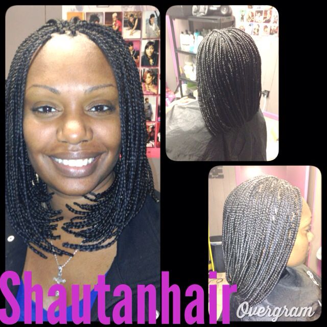 A braided bob. - The 97 Best Images About Black Braids On Pinterest