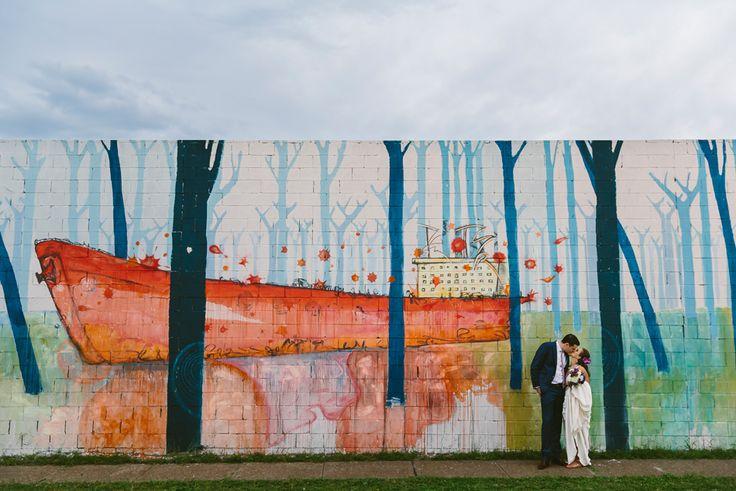 Newcastle wedding photographer. Amazing street art. Image : Cavanagh Photography http://cavanaghphotography.com.au