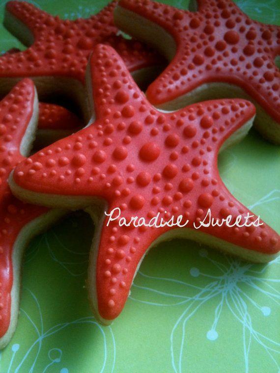 Starfish Sugar Cookies  1 Dozen by ParadiseSweets on Etsy, $42.00
