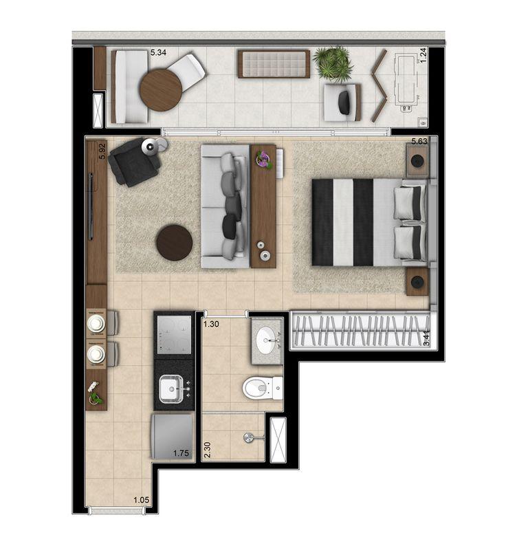 503 best plantas e projetos images on pinterest for Garage studio apartment ideas