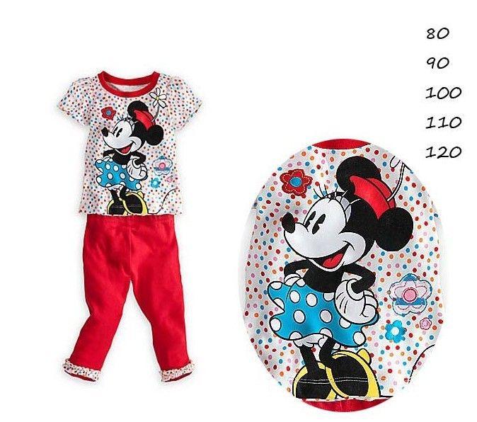 Одежда для младенцев комплект, Девочки короткий рукав минни рубашка + красный брюки 2 шт. fashio дети комплект лето девочка хлопок одежда костюм