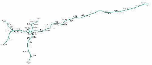 Mapa de District Line, metro de Londres