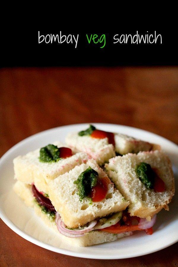 bombay veg sandwich recipe with step by step photos - easy to prepare bombay veg sandwich.