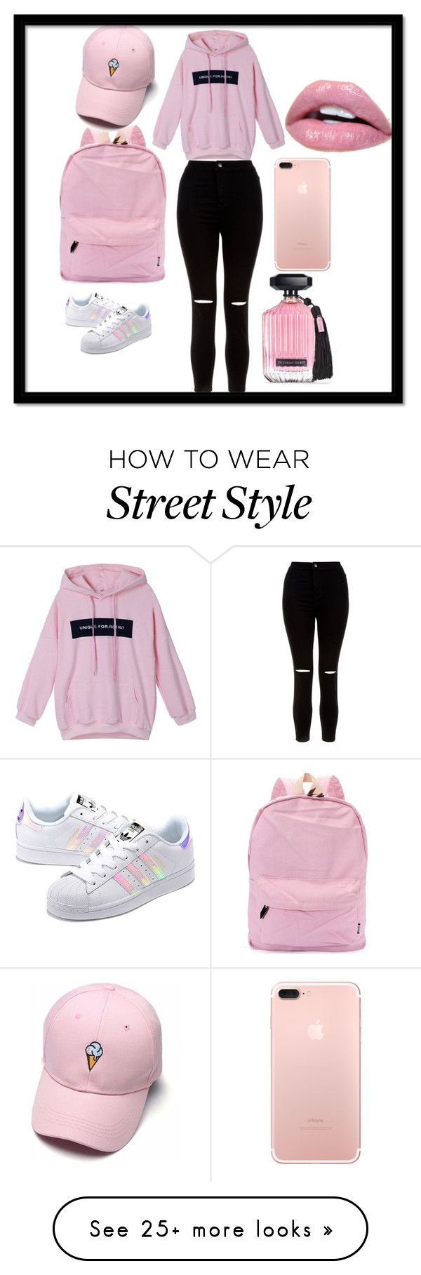 """Comfortable style..."" by deyanafashion on Polyvore featuring adidas Originals, New Look and Victoria's Secret"