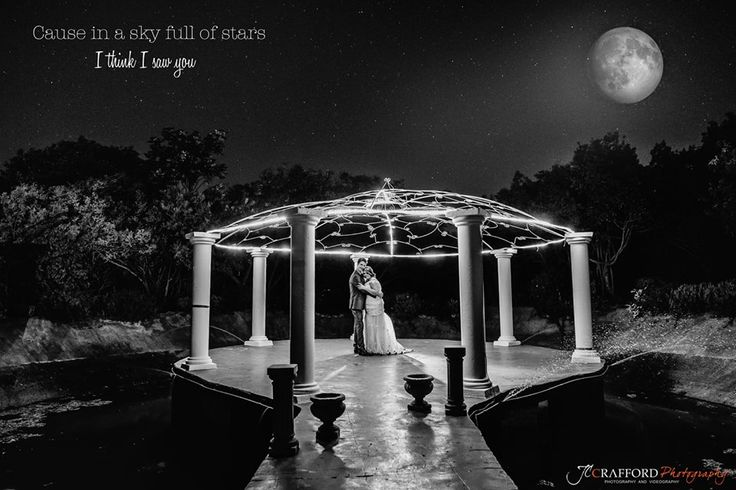Thank-you JC Crafford Photography! What an amazing shot of our beautiful couple at our moonlight dam
