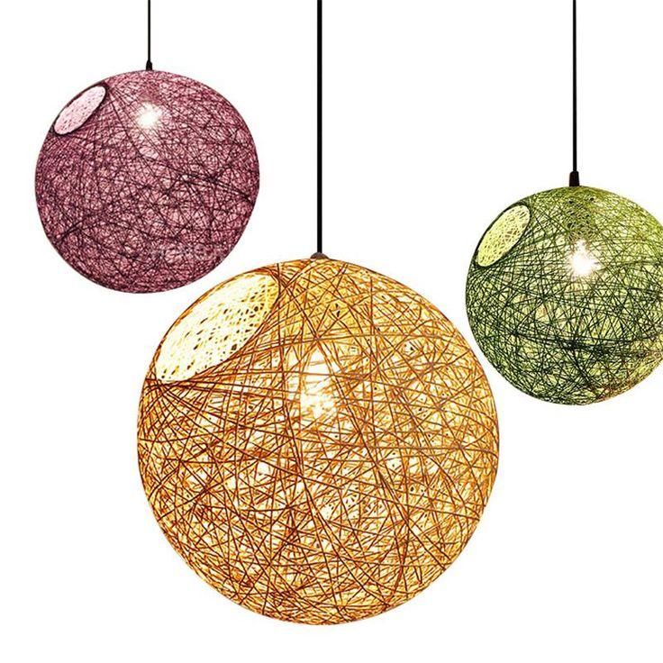 Wicker ball lights