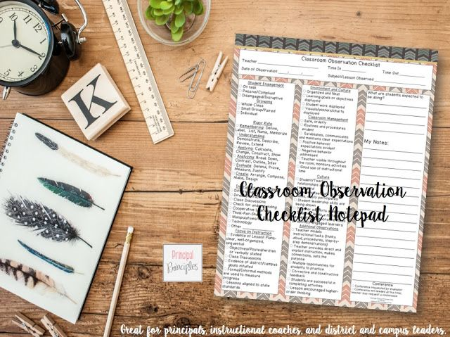 Collaborative Teaching Observation Form ~ Classroom observation checklist digital