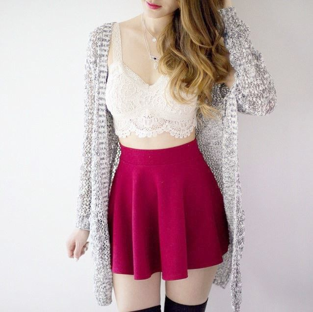 Carrie Circle Skirt - Red