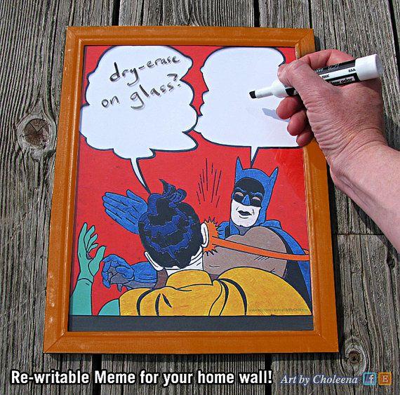 Batman Slap Meme Paper Dry Erase White Board on by ArtByCholeena