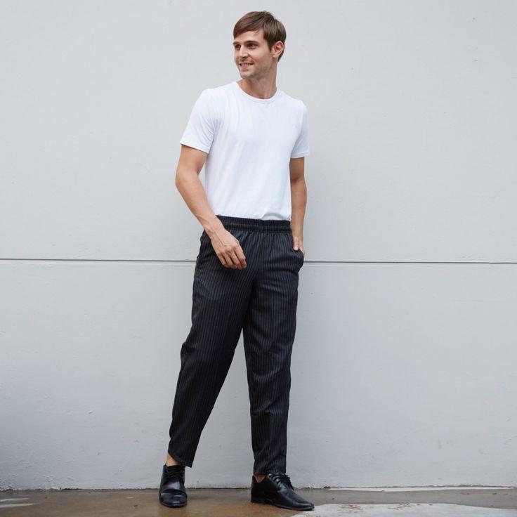 Chefwear pants custom design restaurant waitress work trousers mens grey striped fashion tie dye chef pants uk free shipping