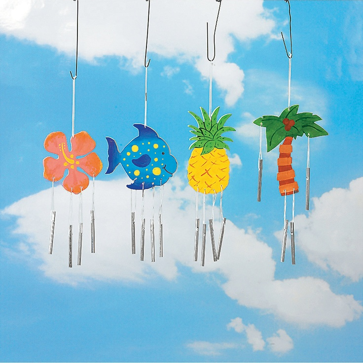 DIY Wood Tropical Wind Chimes - OrientalTrading.com