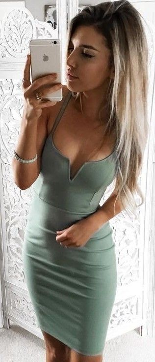 Olive Green Dress                                                                             Source