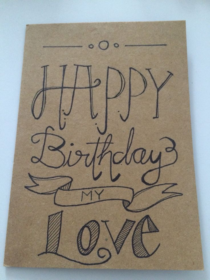 Happy Birthday Card for my Boyfriend Handwriting – Birthday Cards for a Boyfriend