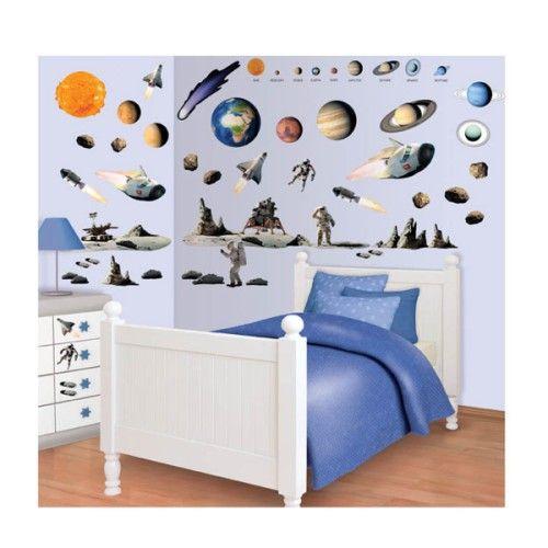 Faciles et rapides � installer, les stickers muraux de Walltastic vous permettent de transformer la chambre de votre enfant en un clin d'oeil. Avce ces d�cors g�ants de plan�te, les petits gar�ons s'inventent des histoires d'exploration galactique !