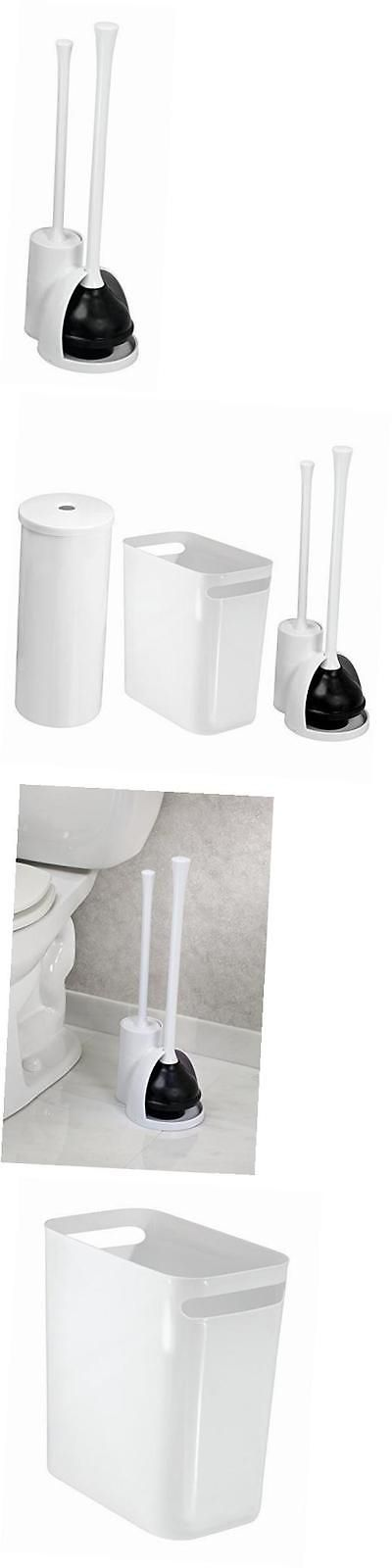 toilet brushes and sets mdesign bathroom plunger toilet bowl brush set toilet paper - Toilet Bowl Brush
