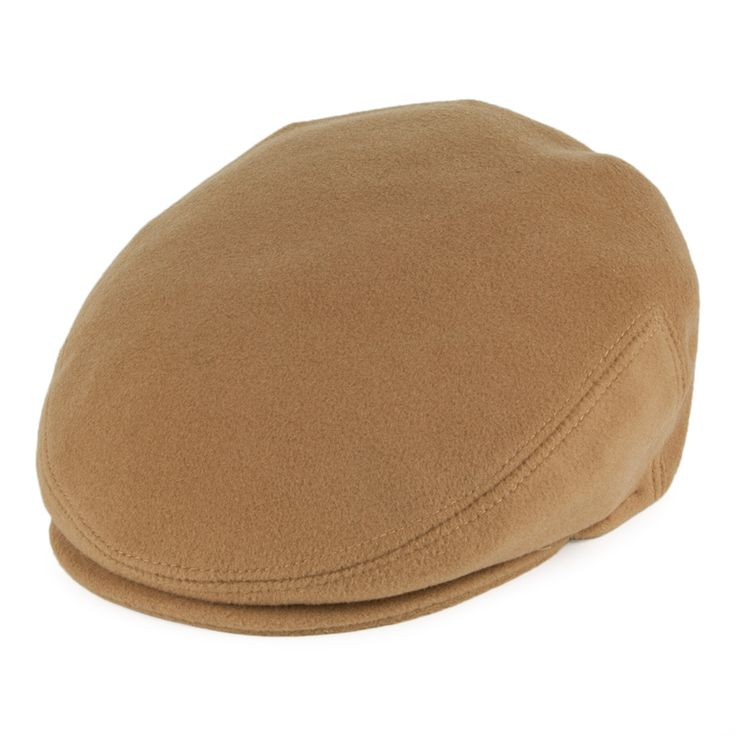Bailey Hats Cole Cashmere Flat Cap - Camel from Village Hats.