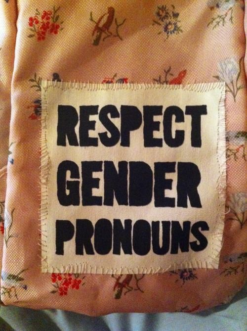 Respect Gender Pronouns  [Follow this link to find a short video of two slam poets exploring the issue of gender identity.: http://www.thesociologicalcinema.com/1/post/2010/07/hir-poem-brave-new-voices.html]