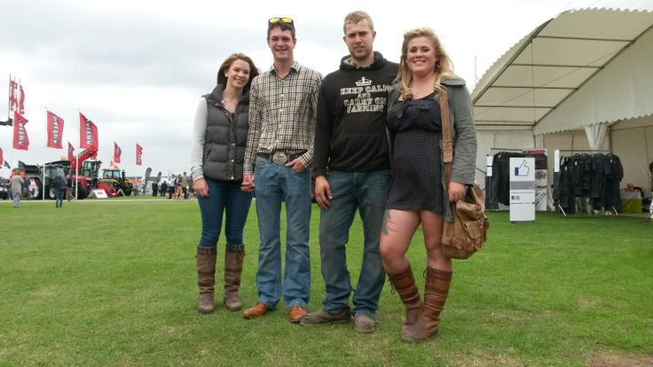 This well-turned-out bunch were spotted at the Lincolnshire Show. Lucy and Lewis from Nottinghamshire, and Olly and Sarah from Gainsborough, were showing how good the country style can look. We love those Dubarry boots, girls!