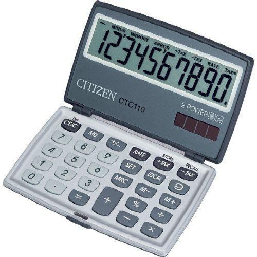 Zsebszámológép 10 számjegyes, extra nagy kijelzővel Citizen CTC-110 - Számológépek Ft Ár 2,499