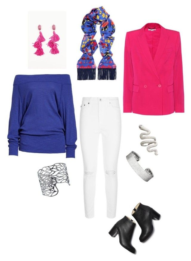 Bright Winter by glenda-3 on Polyvore featuring polyvore, fashion, style, Free People, STELLA McCARTNEY, AG Adriano Goldschmied, Tranloev, John Lewis, Silken Favours and clothing