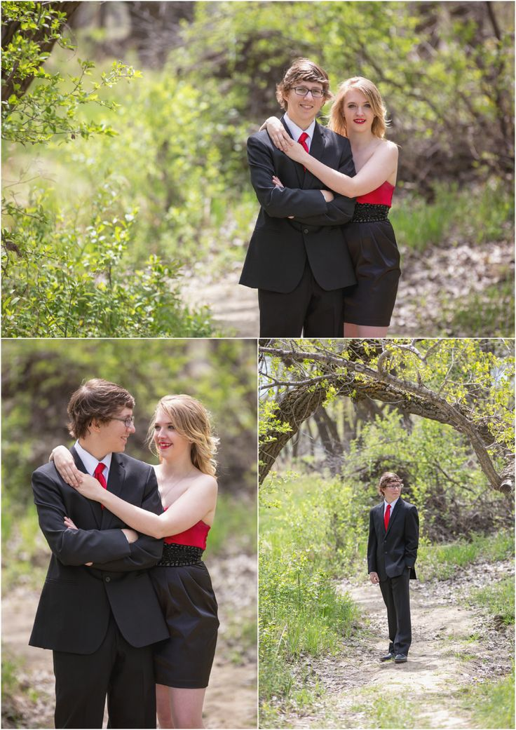 High School Graduation 2015 Highlights | Medicine Hat Photography.  Photo ideas for grad student in black and red suit for prom with date. Taken by Woods Photography (CANADA).  #graduation #prom #photography
