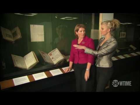 Behind the Tudors: The British Library - Natalie Dormer, Anne Boleyn from The Tudors, celebrates the 500th anniversary of Henry VIII's coronation by visiting a special exhibition at the British library.