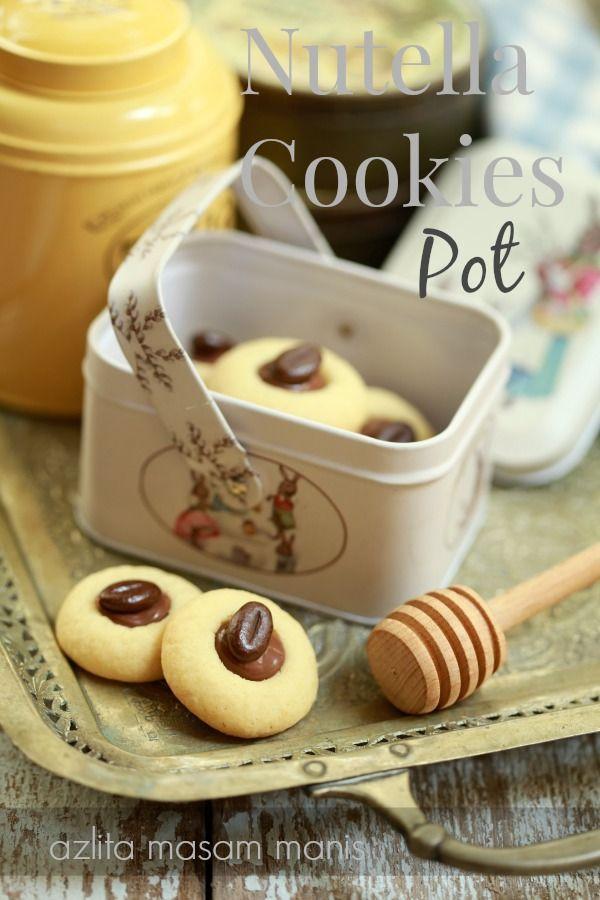 masam manis: Nutella Cookies Pot yang meletup! letup!