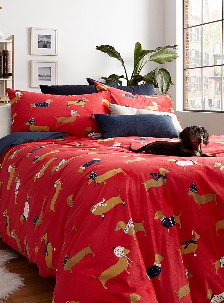 cozy dachshunds duvet cover set