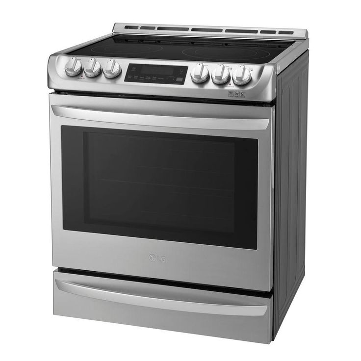 LG Electronics 6.3 cu. ft. Electric Slide in Range with ProBake Convection - LSE4613ST - The Home Depot