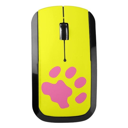 #zazzle #Pink #Paw #Wireless #Mouse  #office #home  #gift #giftidea