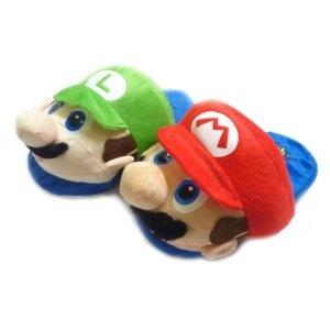 Super Mario Slippers Luigi and Mario