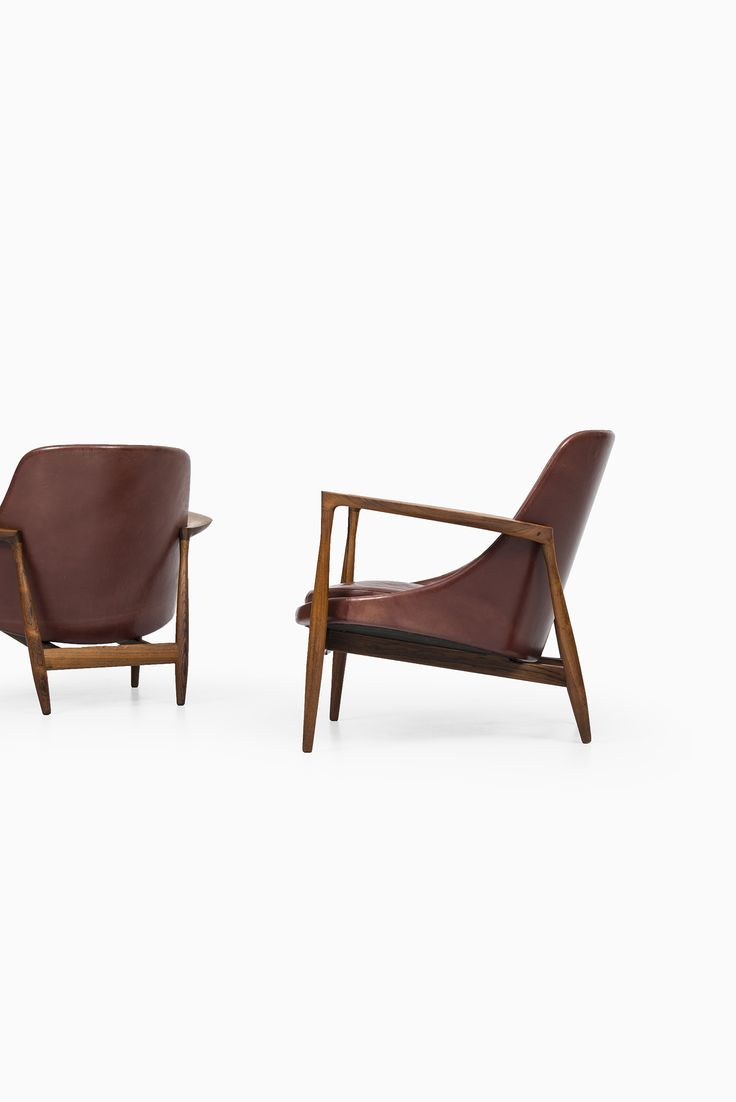 Ib Kofod-Larsen Elizabeth easy chairs in rosewood at Studio Schalling